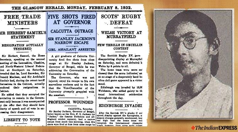 Bina Das, Bengal Governor Stanley Jackson, fight for independence, freedom struggle, indian express, indian express news