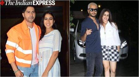 varun dhawan sara ali khan coolie no 1 wrap up party