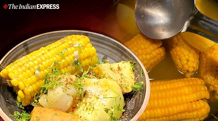 corn on the cob, corn recipes, healthy corn recipes, indianexpress.com, indianexpress, stay home, stay safe, what to cook at home, what to make at home during 21 day lockdown, quarantine, social distancing, netflix and chill, coronavirus, chef vicky ratnani, comfort food, evening hunger snack, hunger pangs, snacks,