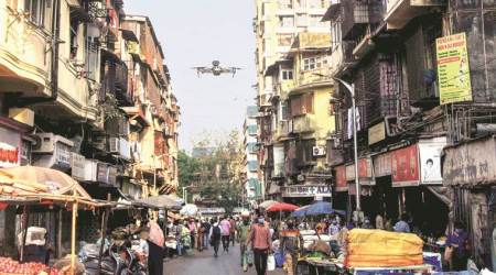 drones to combat covid 19, coronavirus drones, drones to disinfect places, drones to sanitise, indian exress