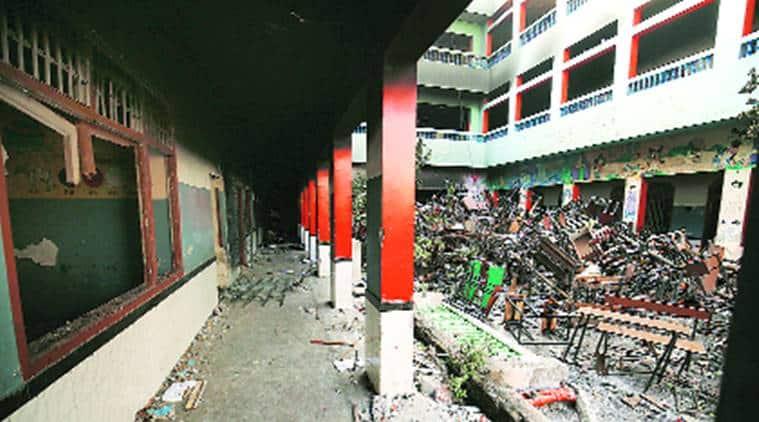 Delhi Schools vandalised, Delhi riot, Delhi violence, delhi news, indian express news
