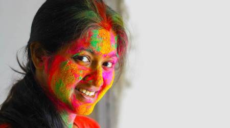 Holi, festival of colours, eyes, eye protection, indian express news