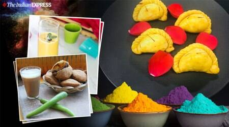Almond and Holy Basil Thandai, holi special recipes, holi, holi desserts, how to make holi food, holi india, indianexpress.com, indianexpress, holi celebrations india, holi food recipes,