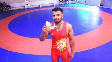 Honey Pal Singh, Honey Pal Singh wrestling, Honey Pal Singh Greco roman 63 kg, indian express, wrestling news