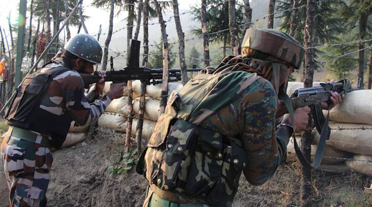 indian army, Kashmir firing, encounter in kashmir, Awantipora in Pulwama, j&k news, kashmir news, indian express