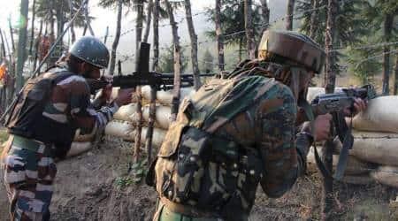 indian army, Kashmir firing, encounter in kashmir, Awantipora in Pulwama, j&k news, kashmir news, indian express