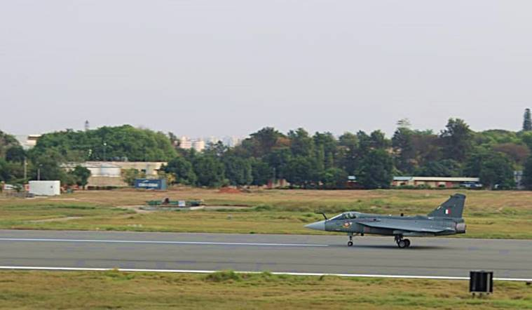 LCA-Tejas-Bengaluru-maiden-flight-airport