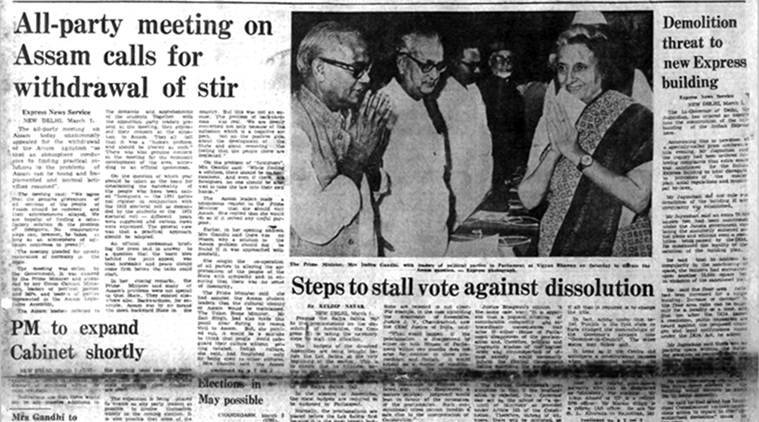 Forty years ago march 2 1980 assam agitation