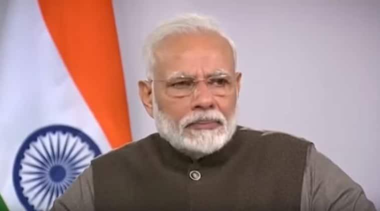 Modi emotional video, PM Modi crying video, Modi turns emotional video, indian express