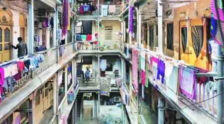 Coronavirus outbreak, Mumbai chawl, slum residents isolation pods, mumbai news, indian express news