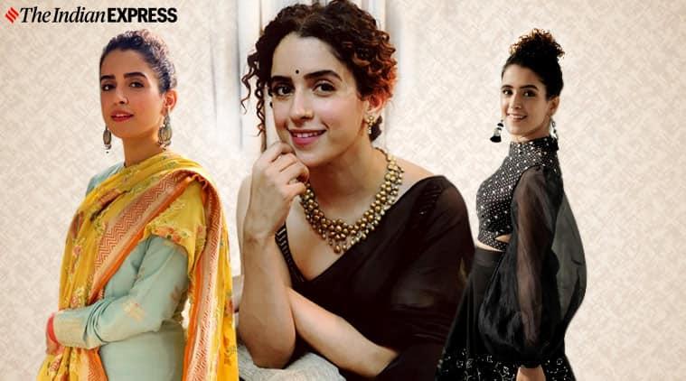 Sanya Malhotra, Sanya Malhotra fashion, Sanya Malhotra pictures, Sanya Malhotra instagram, Sanya Malhotra looks, Sanya Malhotra ethnic, indian express news