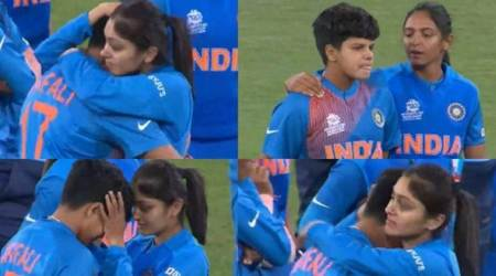 Shafali Verma, Shafali Verma crying, Shafali verma emotional, harmanpreet kaur, harleen deol, harleen deol consoling shafali verma, Women's T20 World Cup final, India women vs australia women, Shafali verma world cup