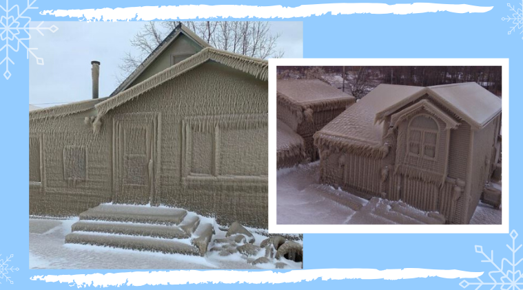 Snowfall, Snow-covered houses in New York, Snowstorm in New York, Snowfall, Snowfall in New York, New York Igloos New York, Lake Erie snowstorm, New York, Trending, Indian Express
