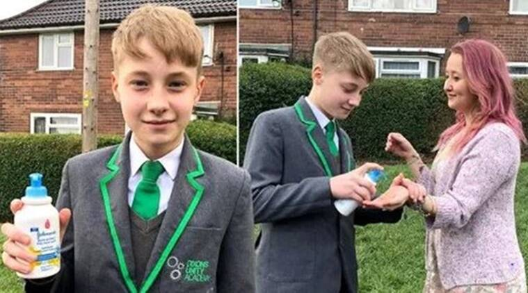 Schoolboy 'suspended for selling hand sanitiser at 50p a squeeze'