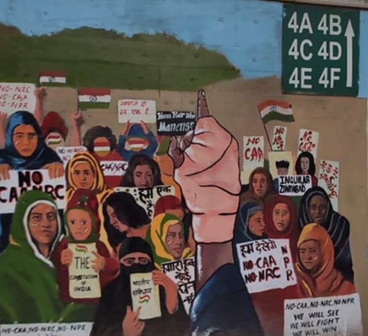 jamia protests citizenship amendment act, jamia milia islamia university, jamia caa nrc protests, jamia protests artists, mamta sagar, salma, anitha thimpu