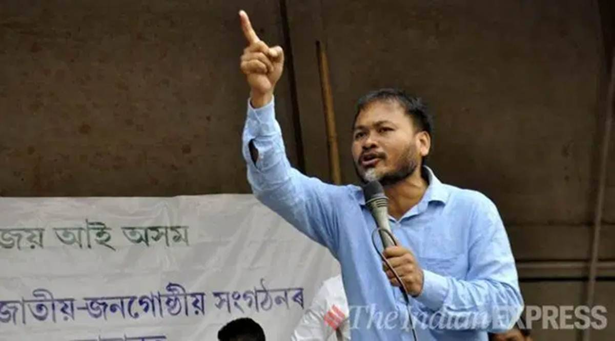 Akhil Gogoi Covid-19, Akhil Gogoi bail, cases against Akhil Gogoi, NIA Akhil Gogoi, Akhil Gogoi arrest, Assam CAA protests, Indian express