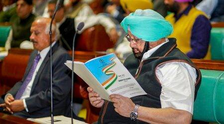 Punjab government, Amarinder Singh, three years of Punjab government, fiscal deficit Punjab, Punjab government report card, Manpreet Badal, punjab news, indian express