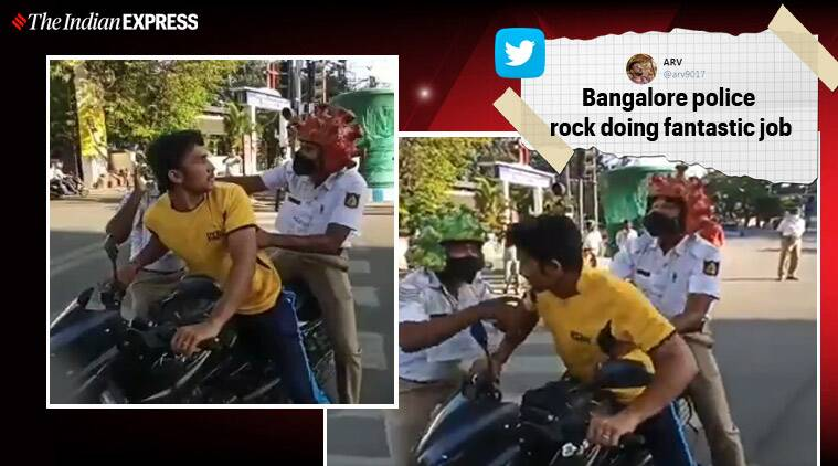 Bangalore Traffic Police came up with a viral skit warning people against violating lockdown