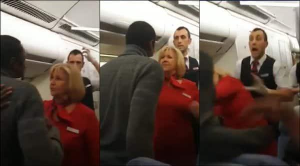 passenger slap air hostess, air hostess slap passenger, brussels airline passenger slap cabin crew, cabin crew passenger fight, viral video, airplane brawl, indian express