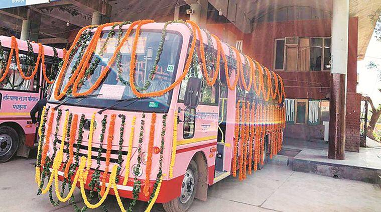 Panchkula: 22 inter-city buses flagged off, seven of them exclusively for women