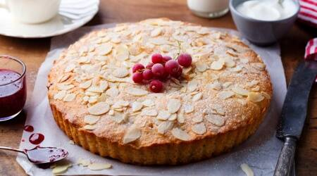 bake a cake in pan, pan bake cake, easy cake recipes, simple birthday cake, indian express news