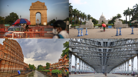 India under lockdown: Before and after photos of tourist spots