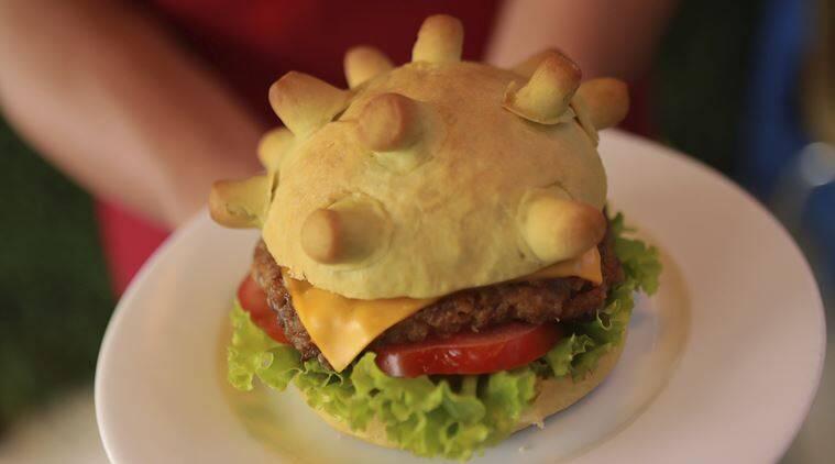 Covid-19 pandemic: Vietnamese chef spreads joy with 'Coronaburger'