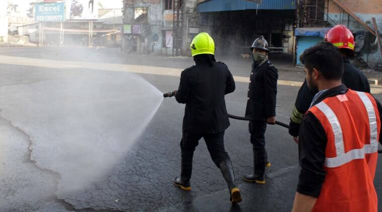 Ahmedabad: Fire dept uses 'mist spraying' to disinfect coronavirus patients' houses