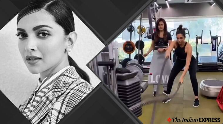 Deepika padukone, celeb fitness, fitness goals, indianexpress.com, indianexpress, battle ropes, biceps wave, how to do battle ropes, yasmin karachiwala,