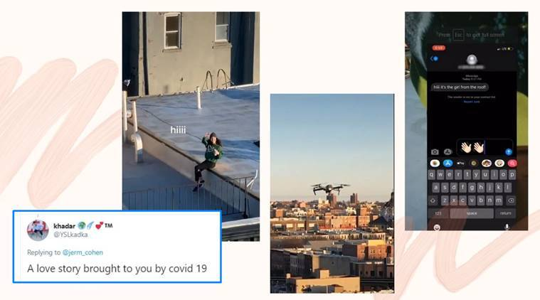 coronavirus, covid-19, man flies drone to propose, drone, Brooklyn photographer,