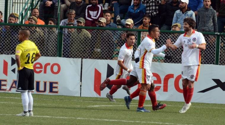 East Bengal scrape past Real Kashmir in ill-tempered clash