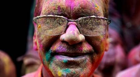 holi images, holi, holi 2020, happy holi, happy holi 2020, holi hai, holi photos, lathmaar holi, barsana holi, nandgaon holi, vrindavan holi, widow holi, holi in india photos, india holi, holi celebrations, holi celebration photos, india news, festival news, indian express