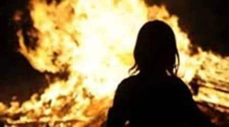 Telangana labourer sets mother on fire, telangana news, telangana police, telangana labourer pain, bedridden mother set on fire, Indian express