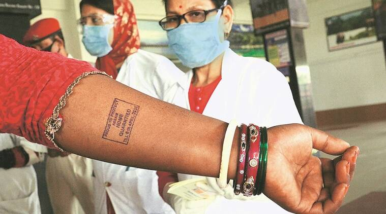 coronavirus names, private information, right to privacy, home quarantine, indian express news
