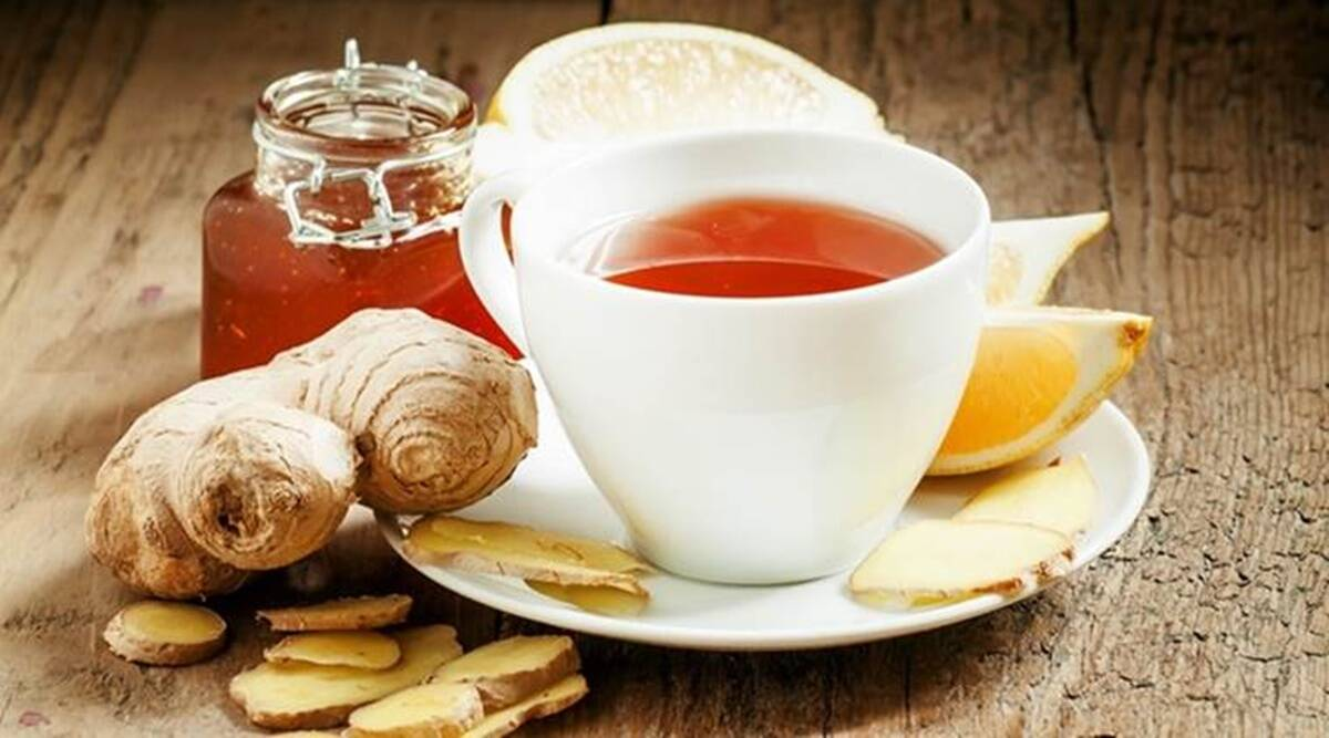 Immune boosting tea with ginger lemon and honey