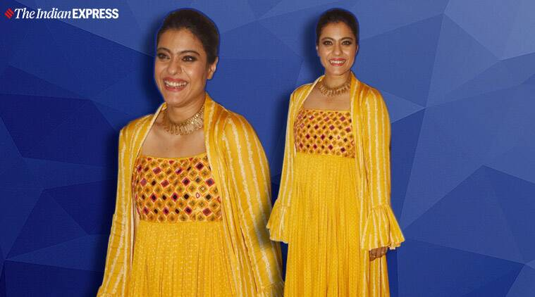 Kajol's mirror work ensemble is perfect for our spring wardrobe; check it out