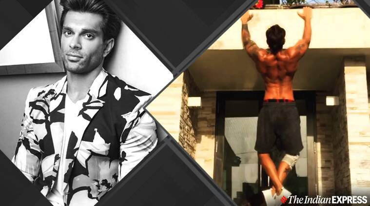 Karan Singh Grover does pull ups without gym equipment; watch video