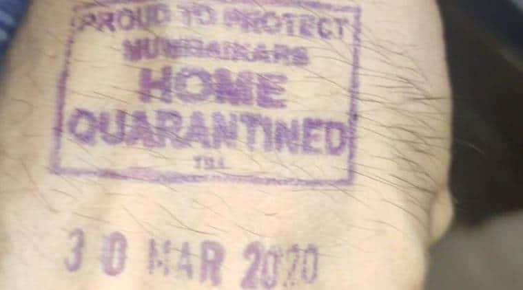 Coronavirus cases, Maharashtra govt, left hand stamping, home quarantine, mumbai news, indian epxress news
