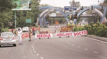 delhi noida border screening, delhi noida border covid tests, Noida, Noida coronavirus, Delhi Noida border, Delhi news, Covid-19, Delhi covid cases, Indian Express