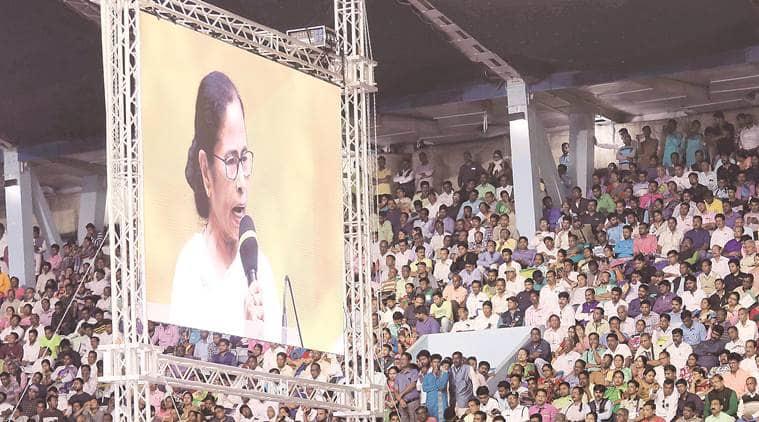 goli maro slogans in Kolkata, Mamata Banerjee, Mamata Banerjee on amit shah Kolkata rally, Mamata Banerjee on delhi violence, caa protests, indian express