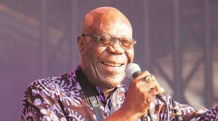 Manu Dibango, Manu dibango master saxophonist, manu dibango death, manu dibango coronavirus infection death, indian express news