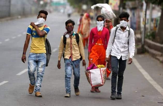 india lockdown, india coronavirus lockdown, migrant workers, migrant workers lockdown, migrant workers delhi, rajasthan migrant workers, indian express news