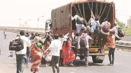 migrant labourers, india lockdown, coronavirus outbreak, human trafficking, Rajasthan image, indian express news