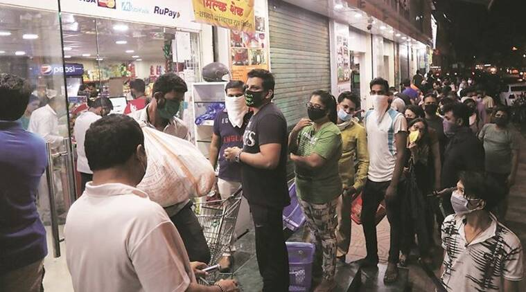Coronavirus oubreak, panic buying, India lockdown, maharashtra government, mumbai news, indian express news
