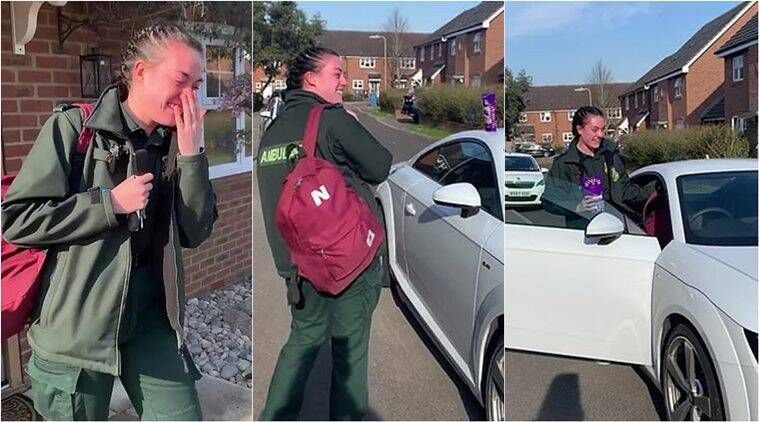COVID-19: UK paramedic breaks down as entire neighbourhood comes out to applaud her