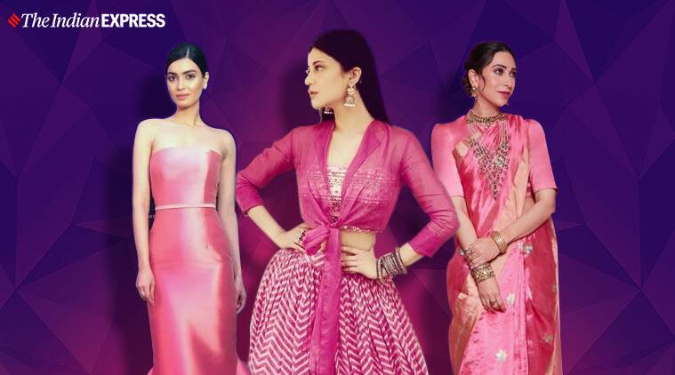 pink outfits, pink outfit ideas, pink clothing, pink fashion, best spring colours, best spring fashion, spring trends 2020, indian express news, lifestyle