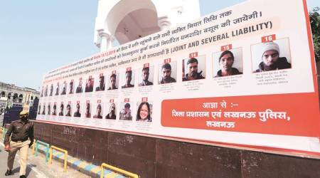 Allahabad High Court, Yogi Adityanath hoardings, CAA protester poster, , lucknow news, indian express news