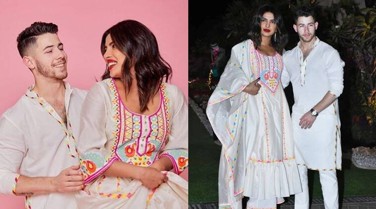 Holi 2020: Priyanka and Nick twin in Abu Jani Sandeep Khosla ensembles