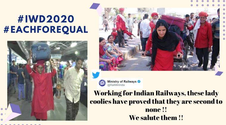 indian railways u2019 post on women porters at stations sparks