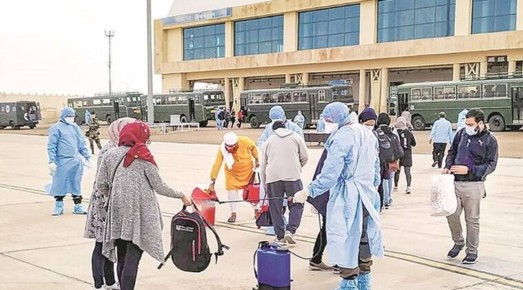 Indian nationals evacuated from Iran, Indian Army Wellness Facility Centre, Jaisalmer Military Station, Rajasthan news, coronavirus, coronavirus indians in Iran, indian express